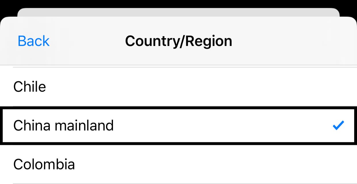 how to change country on app store