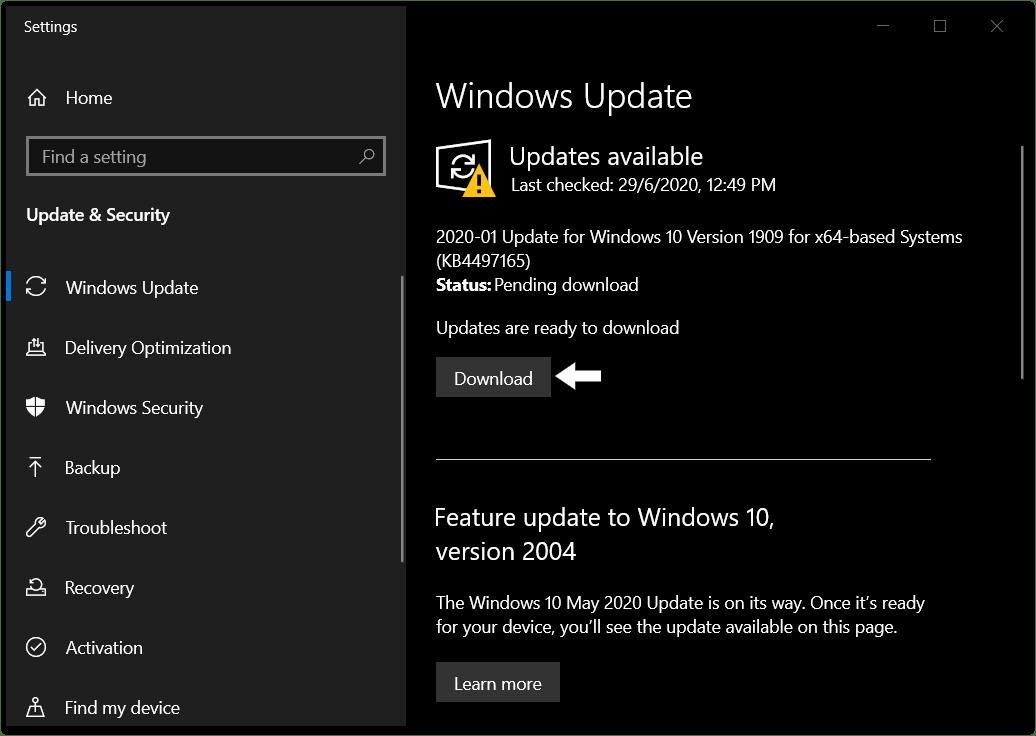 Update Windows to fix discord screen share not working