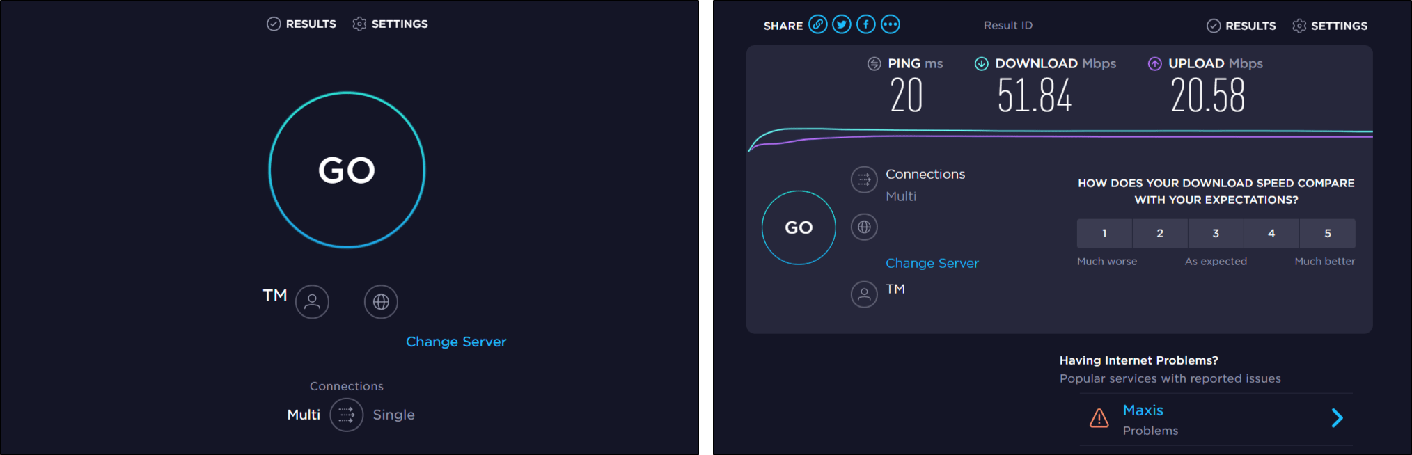 Check your Internet connection speed and stability or ping