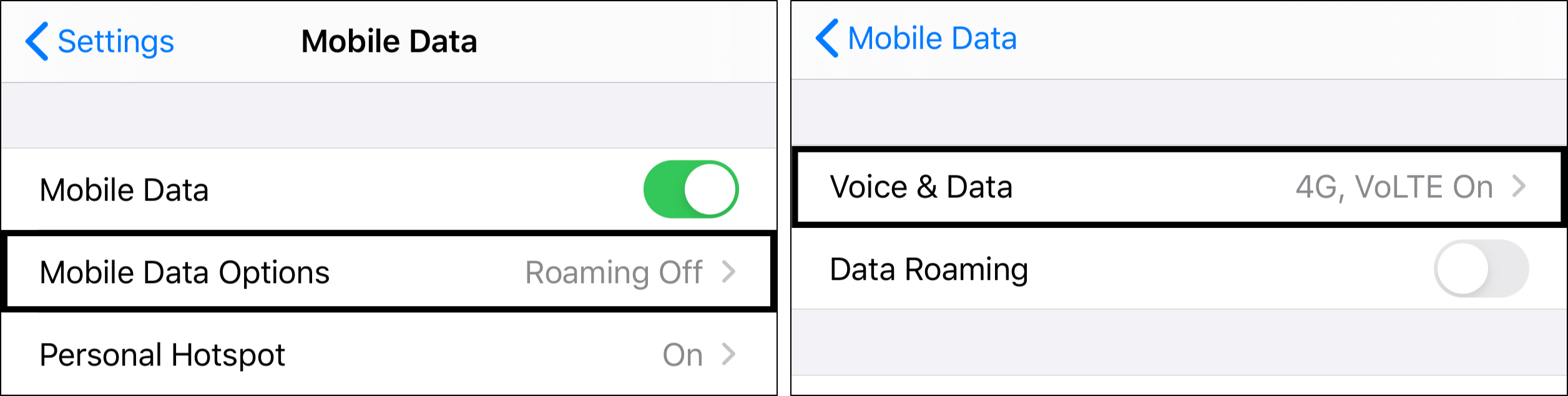 Change cellular data to 4g to fix Whatsapp calls not ringing on iPhone