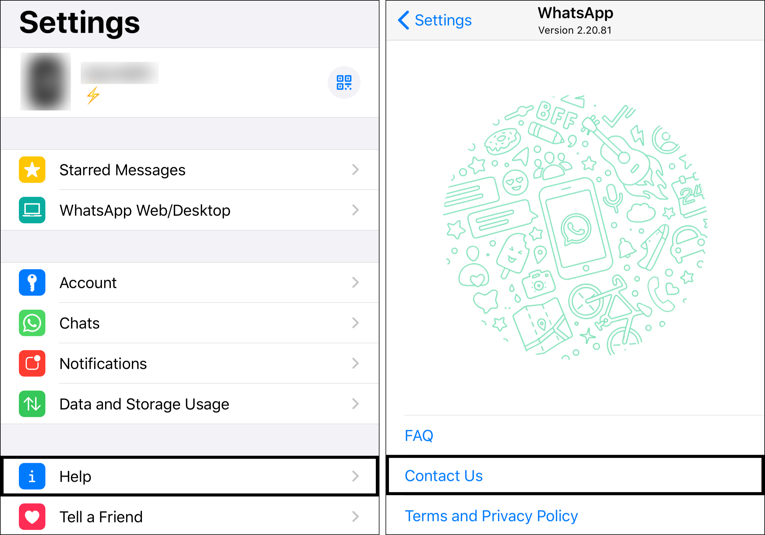 contact whatsapp support to fix whatsapp calls not ringing on iPhone and Android