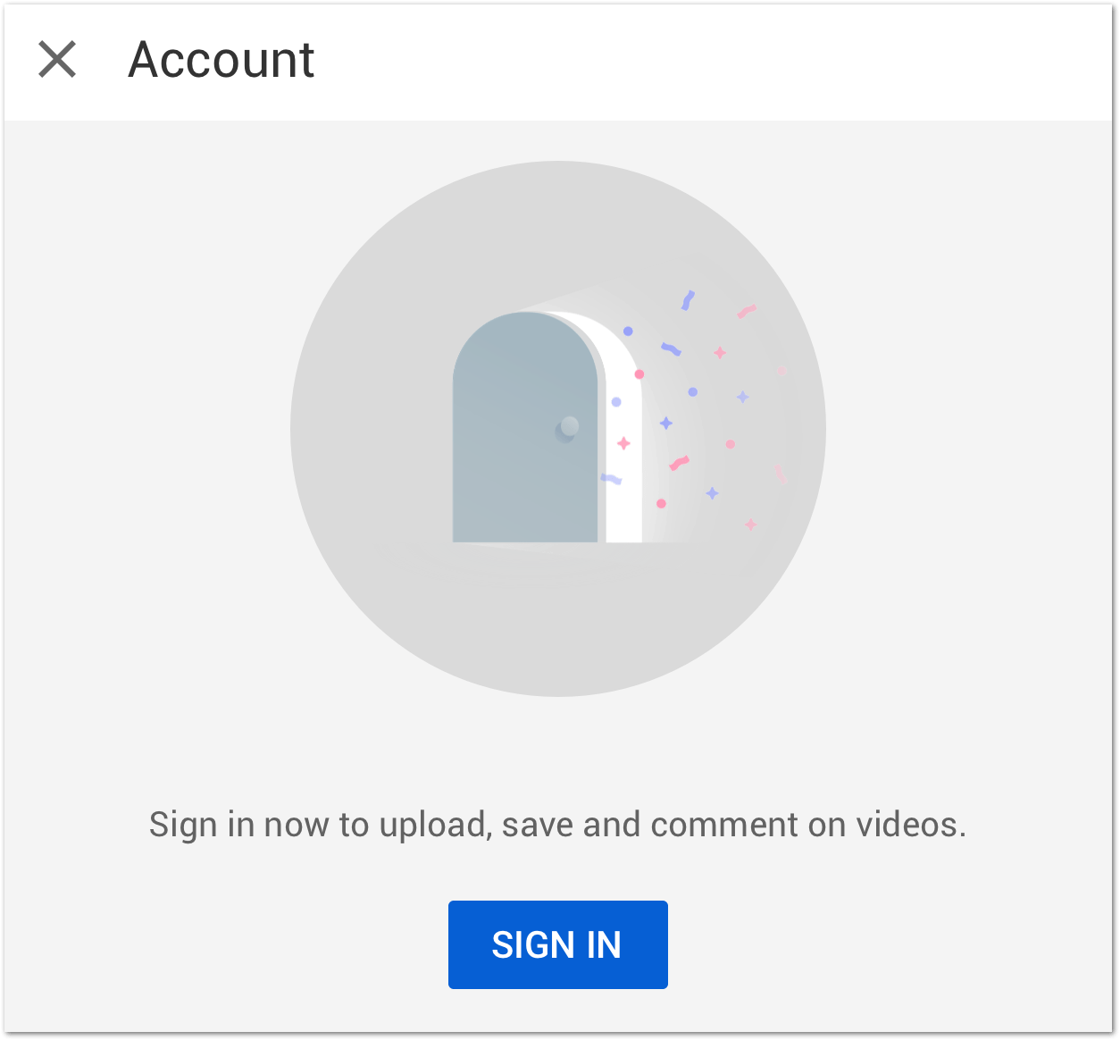 sign in to google account to fix youtube comments not loading