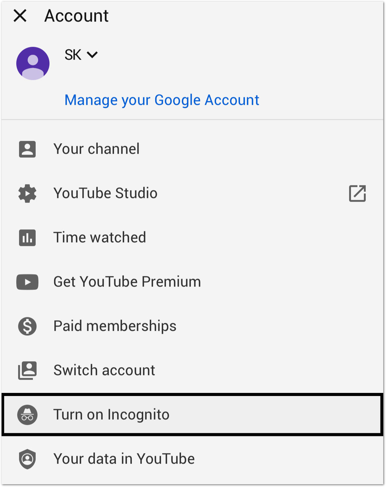 open YouTube in incognito mode to fix youtube comments not showing