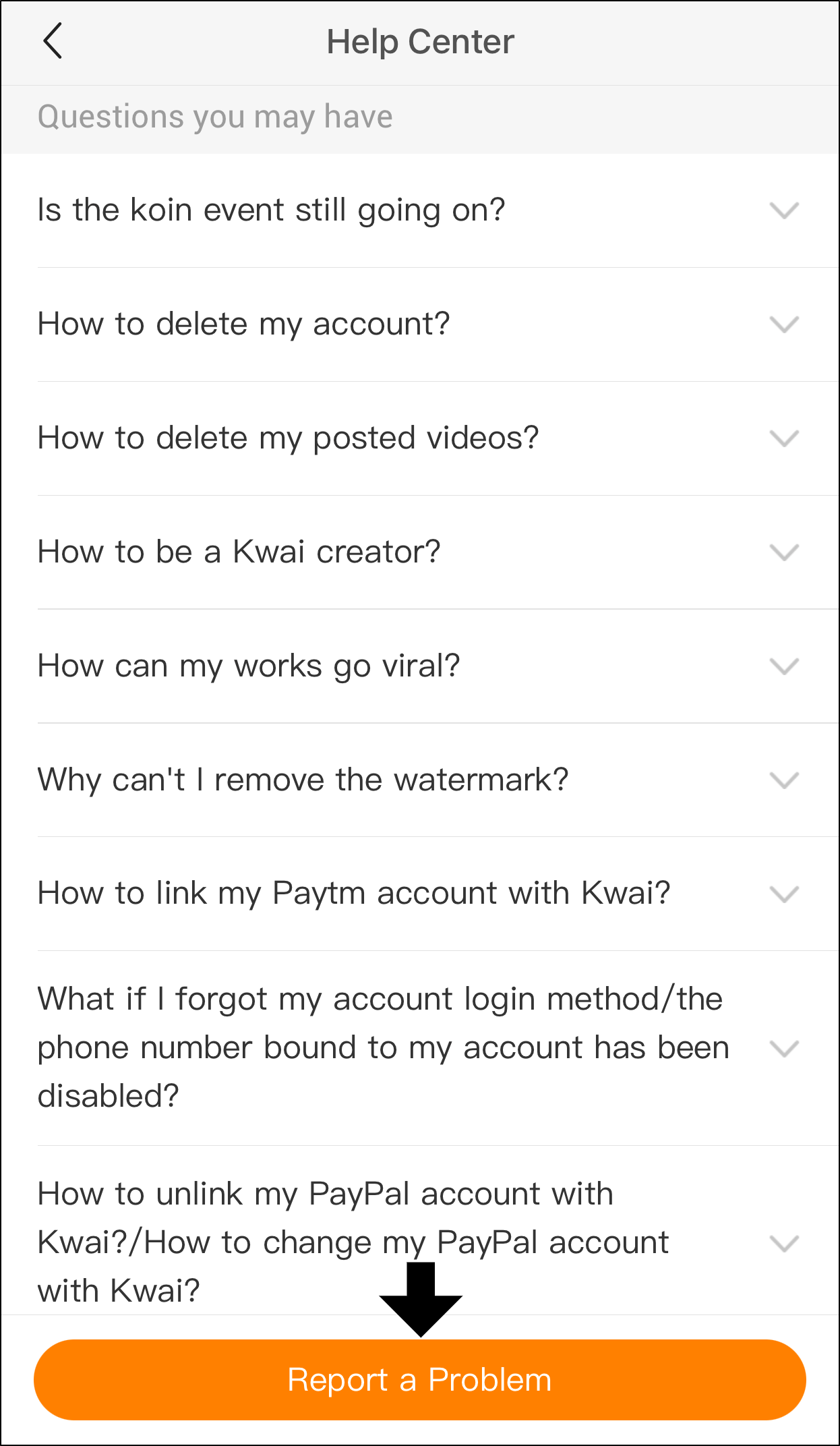 how to delete kwai account permanently