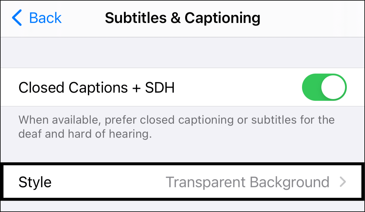 Changing the Size of Amazon Prime Video Subtitles on iPhone or iPad to fix subtitles too small