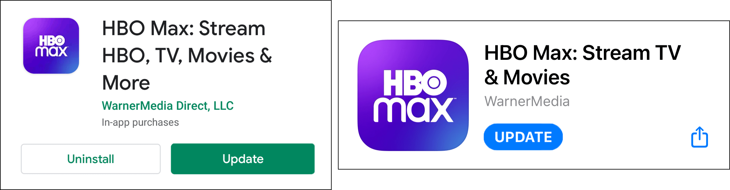 update HBO Max app to fix service error