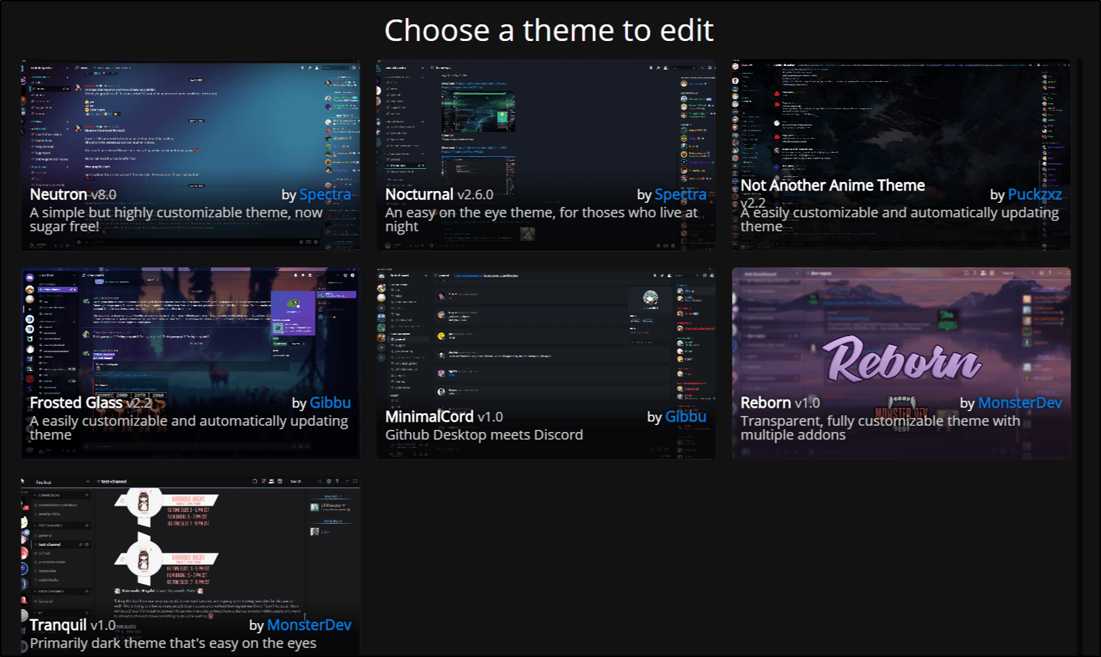 making a discord background theme using Codedotspectra generator